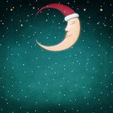 Moon Christmas Stock Illustration