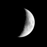 Moon on clear night Royalty Free Stock Image