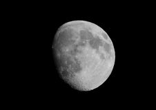 The Moon. Clear sky at night with an almost full moon Stock Images
