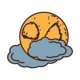 Moon climate night  icon Stock Image