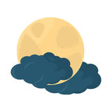 Moon climate night  icon Royalty Free Stock Images