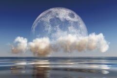Moon on cloud Stock Photography
