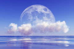 Moon on cloud Stock Images
