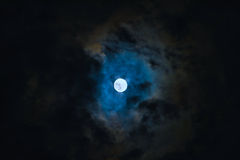 Moon in the cloud Stock Photography