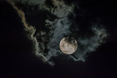 Moon and cloud Stock Photo
