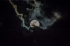 Moon and cloud Royalty Free Stock Photos