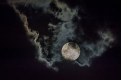 Moon and cloud Stock Image