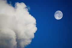Moon and clouds Stock Image