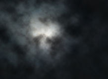 Moon clouds. Editable vector illustration of clouds lit by the moon at night made with a gradient mesh Stock Image