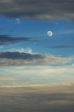 Moon and clouds Royalty Free Stock Image