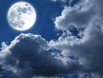 Moon and clouds. Moon on background of clouds Stock Images
