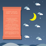Moon and Clouds Background royalty free illustration