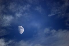 Moon With Clouds royalty free stock photo