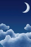 Moon and Clouds Royalty Free Stock Photo
