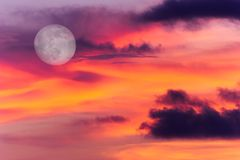 Moon Clouds royalty free stock photos