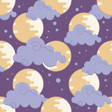 Moon in clouds pattern for chinese mid autumn festival Royalty Free Stock Photography