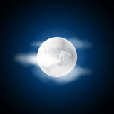 Moon in the clouds Royalty Free Stock Photo