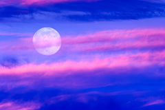 Moon Clouds royalty free stock image