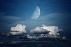 Moon and Cloudscape Royalty Free Stock Photo