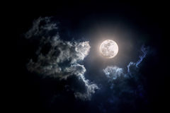 Moon on Cloudy day. The Moon on Cloudy day Stock Photography