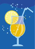 Moon coctail. Vector colour illustration of moon cocktail Royalty Free Stock Photos