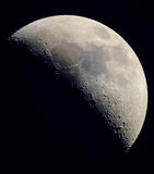 The Moon in Color. Taken through a 10 inch newtonian telescope at prime focus royalty free stock photography