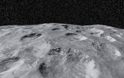 Moon Crater Royalty Free Stock Photo