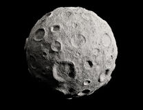 Moon and craters. Asteroid. Stock Photo