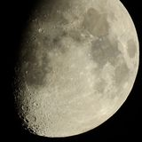 Moon Craters Royalty Free Stock Photos