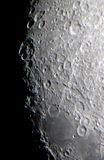 Moon craters detail Royalty Free Stock Images
