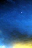 Moon crescent fantasy evening sky background Stock Photography