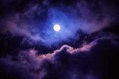 The moon on the dark sky Stock Photography