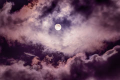 The moon on the dark sky Stock Photo