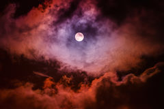 The moon on the dark sky Royalty Free Stock Photography
