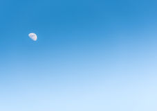 The moon in the day on blue sky Royalty Free Stock Image