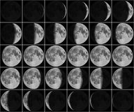 Moon 30 day phases Stock Image