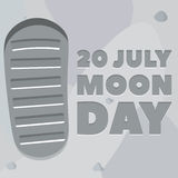Moon day poster Royalty Free Stock Image