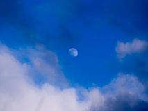Moon in The Daytime Royalty Free Stock Photography