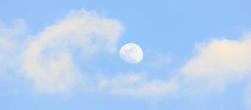 Moon in the daytime Stock Images