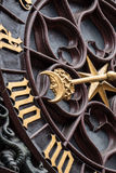 Moon detail of Basel Rathaus Clock Stock Image