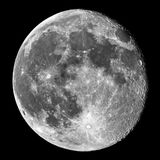 Moon details observing over telescope Stock Photos