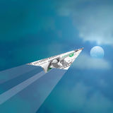 Moon dollar Stock Images