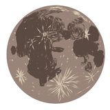 The moon doodle Royalty Free Stock Images