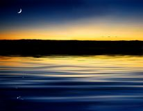 Moon Dusk sunset Royalty Free Stock Image