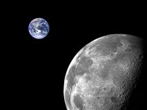 Moon and Earth Stock Photos