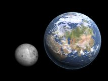 Moon and earth royalty free stock photos
