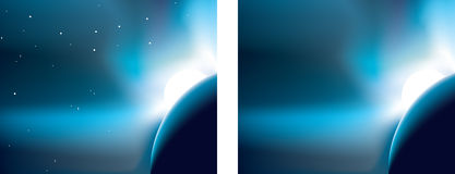 Moon and earth background Royalty Free Stock Images