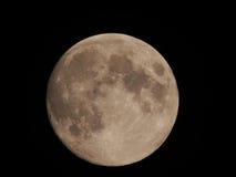 Moon. Moon Earth satellite closeup against the black sky Royalty Free Stock Photos