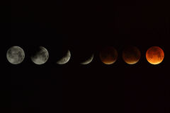 Moon during an eclipse Royalty Free Stock Images