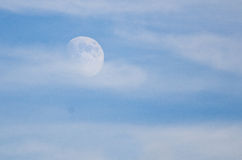 Moon Emerging from the Clouds Royalty Free Stock Photos